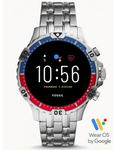 Fossil FTW4040 Gen 5 The Carlyle HR Orologio Smartwatch Uomo Acciaio Argento