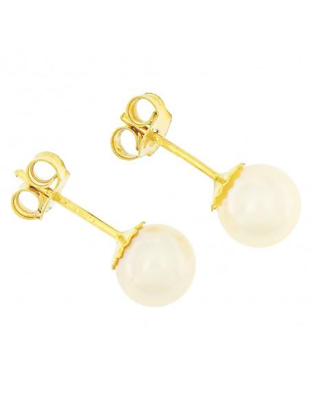 Orecchini perle 5.5 - 6mm classe AAA con montatura in Oro 18kt Miyu Pearl