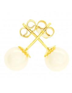 Orecchini perle 6 - 6.5mm classe AAA con montatura in Oro 18kt Miyu Pearl