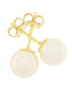 Orecchini perle 6.5 - 7mm classe AAA con montatura in Oro 18kt Miyu Pearl