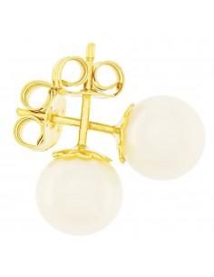 Orecchini perle 7 - 7.5mm classe AAA con montatura in Oro 18kt Miyu Pearl
