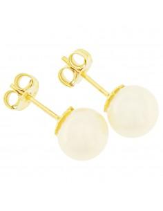 Orecchini perle 7.5 - 8mm classe AAA con montatura in Oro 18kt Miyu Pearl