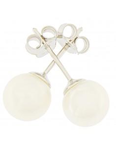 Orecchini perle 6.5 - 7mm classe AAA con montatura in Oro bianco 18kt Miyu Pearl