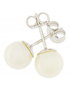 Orecchini perle 7 - 7.5mm classe AAA con montatura in Oro bianco 18kt Miyu Pearl
