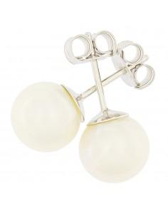 Orecchini perle 7.5 - 8mm classe AAA con montatura in Oro bianco 18kt Miyu Pearl