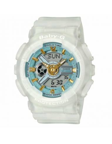 Orologio Donna Casio BABY-G in Resina BABY-G Multifunzione BA-110SC-7AER Bianco