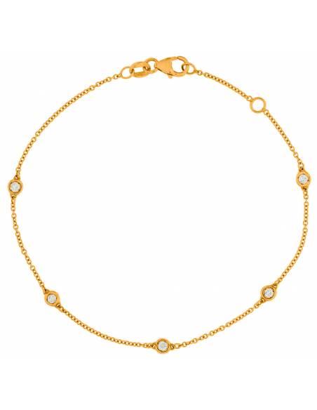 Bracciale Donna Diamante naturale da 0.22ct Oro 18Kt Miyu