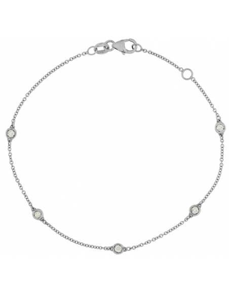 Bracciale Donna Diamante naturale da 0.21ct Oro bianco 18Kt Miyu